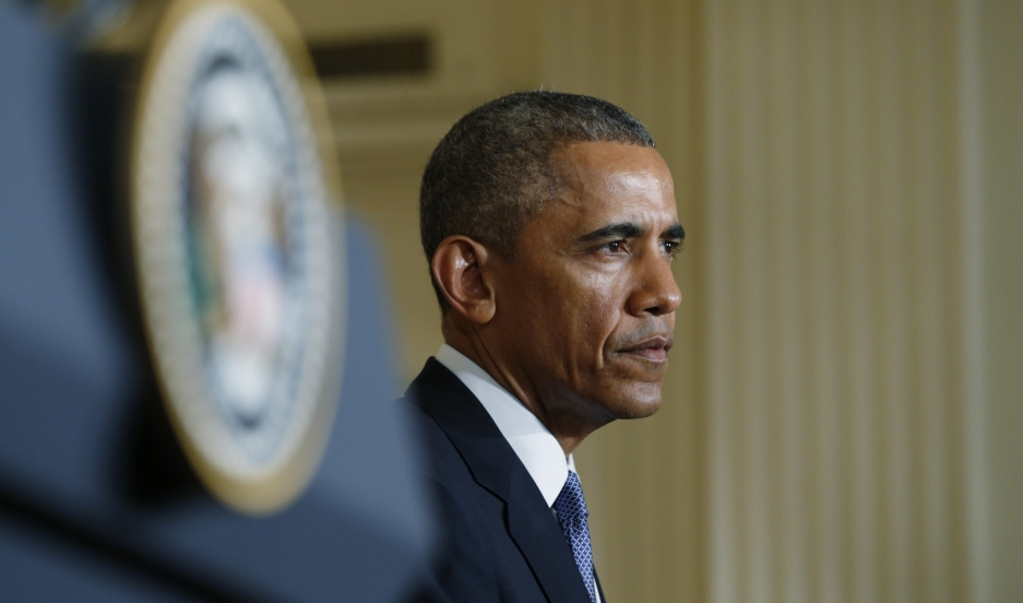 President Obama at a news conference. His certainty about a North Korean hack aroused journalists' suspicions.