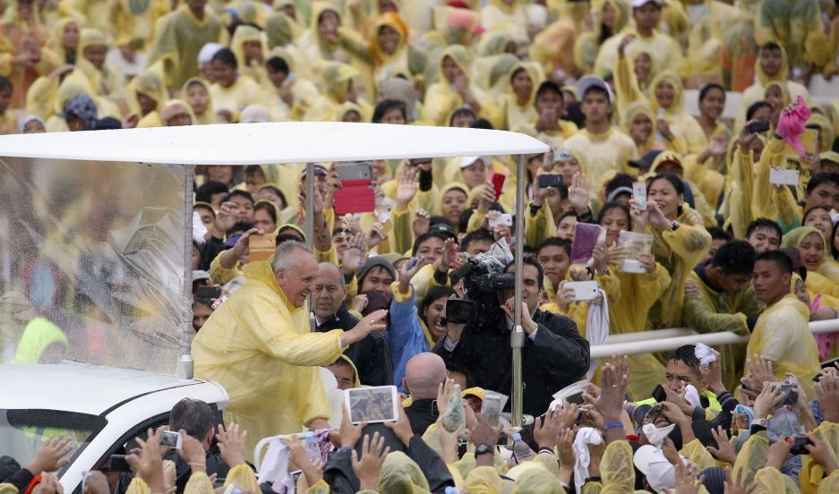 "Pope Francis visited typhoon-wracked Tacloban in the Philippines in January 2015, and said, ""This country, more than many others, is likely to be seriously affected by climate change."""