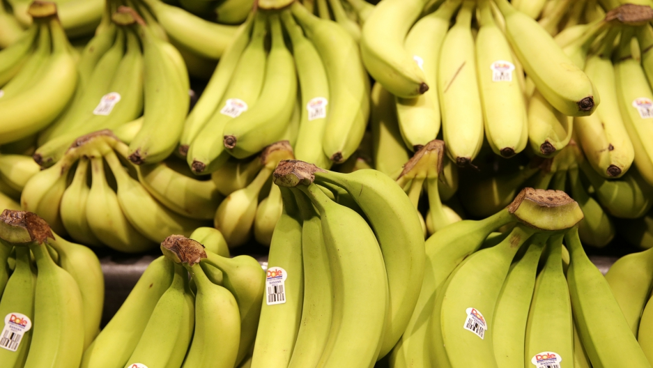 Dole brand bananas are seen on display at the Safeway store in Wheaton, Maryland February 13, 2015.