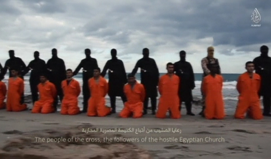 Men in orange jumpsuits believed to be Egyptian Christians were held captive by the Islamic State and murdered in Libya.