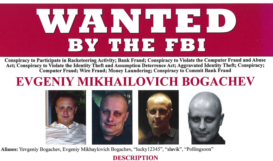 Russian national Evengiy Bogachev is shown in this Federal Bureau of Investigation (FBI) Wanted Poster in this handout provided by the FBI in Washington, DC, February 24, 2015.