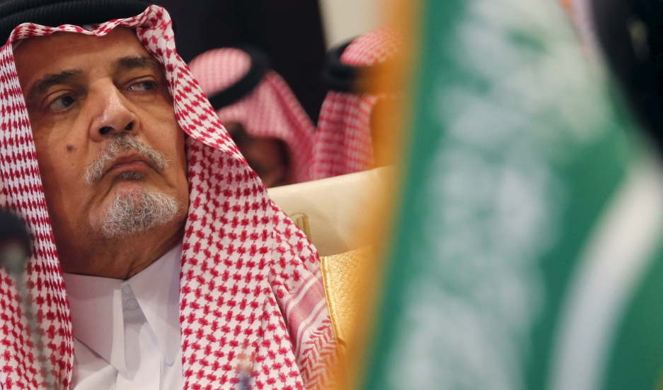 Saudi Arabia's foreign minister, Prince Saud al-Faisal, attends a meeting of Arab League foreign ministers in Sharm el-Sheikh, Egypt, on March 26, 2015.