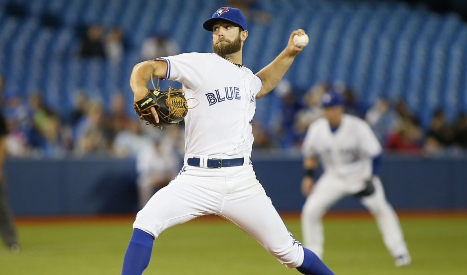 Toronto Blue Jays starting pitcher Daniel Norris throws against the Tampa Bay Rays in the fourth inning at the Rogers Centre.