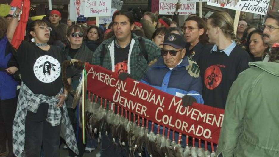 In October, 2000 American Indians blocked the parade route of Italian Americans celebrating Columbus Day in downtown Denver. The protestors decried the use of Columbus's name in the parade citing that Columbus was a slave trader and a killer.