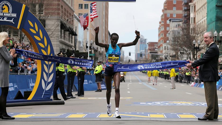 Edna Kiplagat wins Boston Marathon