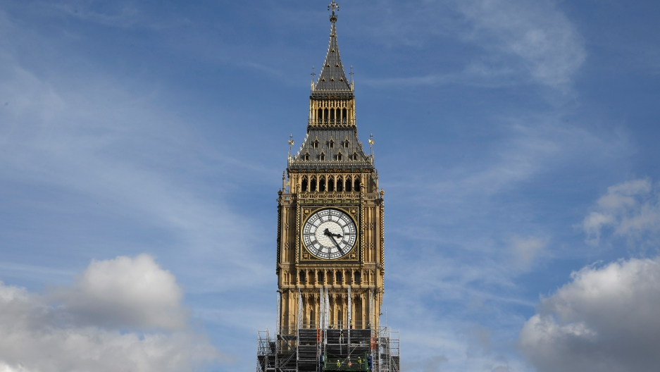Fixing up londons big ben is more complex than anybody thought scaffolders work on the big ben clock tower which is undergoing maintenance in westminster london malvernweather Images