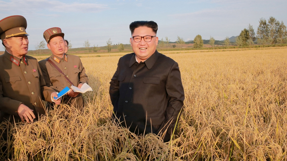 North Korean leader Kim Jong-un visits a farm in this Sept. 29, 2017 photo released by North Korea's Korean Central News Agency in Pyongyang.