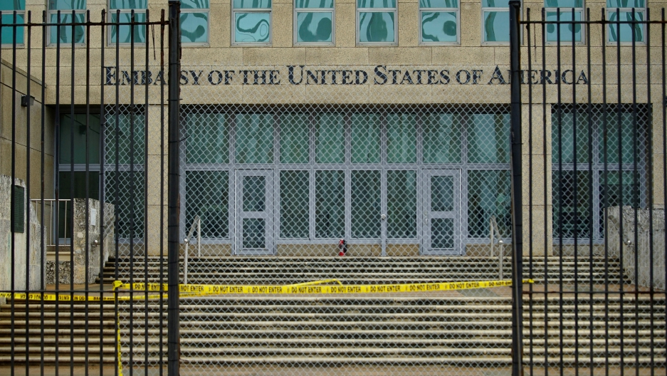 A view of the U.S. Embassy in Havana, Cuba, September 29, 2017.