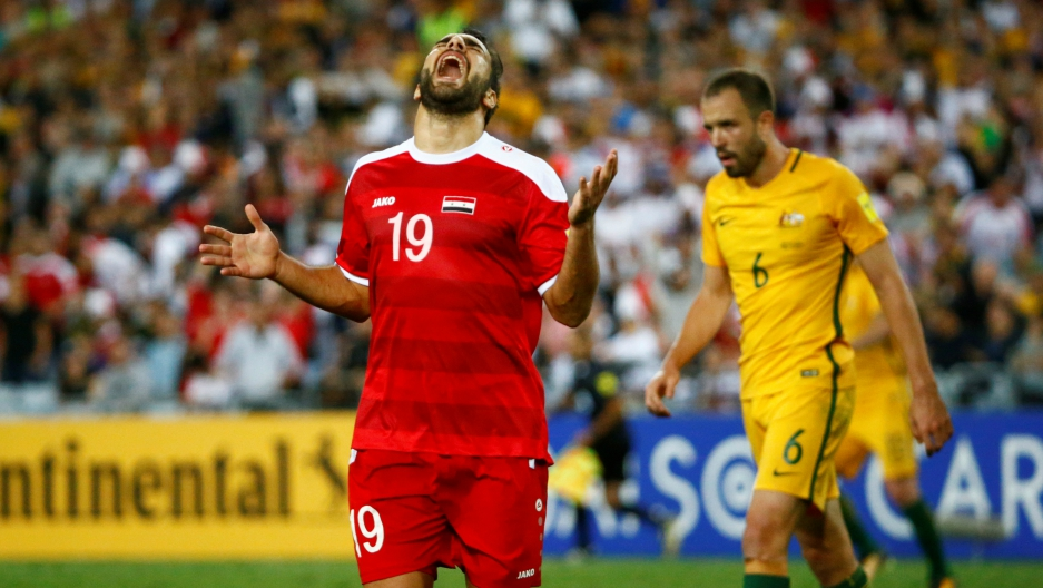 Australia crushed Syria's World Cup dreams in a 2-1 match in Sydney on Tuesday. Some Syrians celebrated the loss.