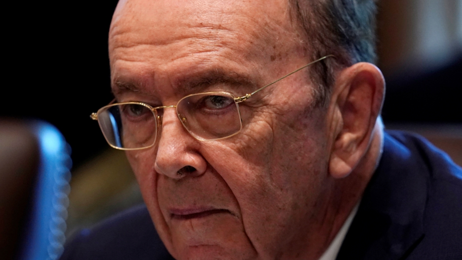 Democrats have called for an inquiry into Commerce Secretary Wilbur Ross's business links to Vladimir Putin's son-in-law. Ross denies wrongdoing.