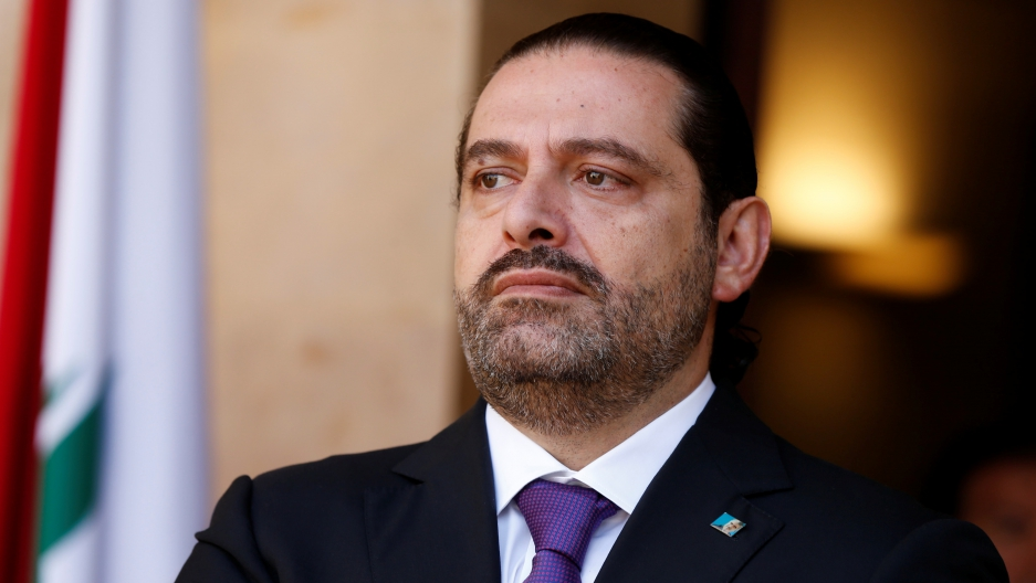 Lebanon's Prime Minister Saad al-Hariri, seen on Oct. 24, 2017, before stepping down.