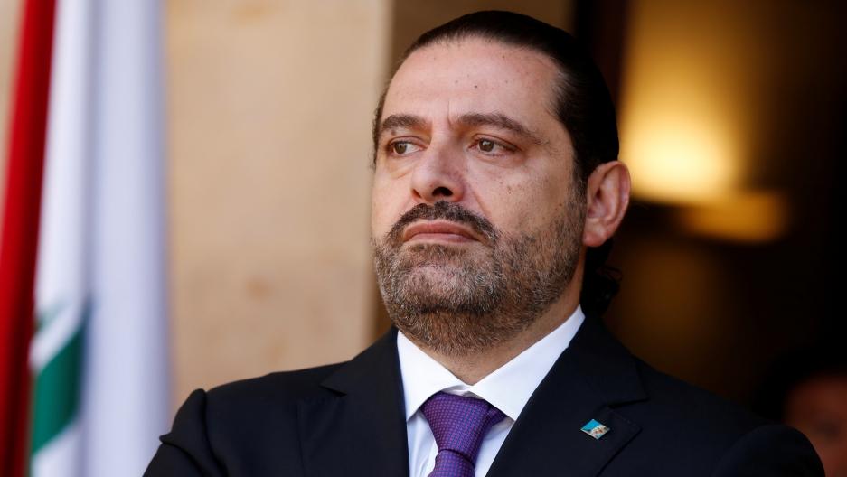Lebanon's Prime Minister Saad al-Hariri, seen on Oct. 24, 2017, before stepping down.