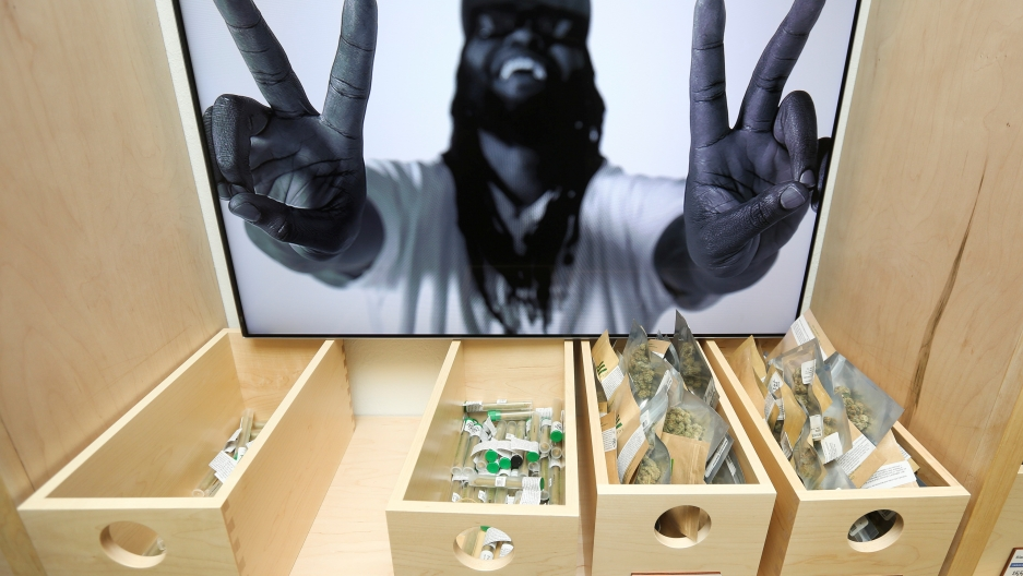 Marijuana is seen for sale at Harborside, one of California's largest and oldest dispensaries of medical marijuana, on the first day of legalized recreational marijuana sales in Oakland, California, U.S. January 1, 2018.