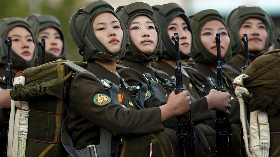 Image result for north korean women soldiers