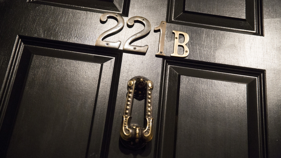 The door bearing the number 221B is shown from a Sherlock Holmes-themed escape & Is this ghost story behind the new episode of Sherlock?