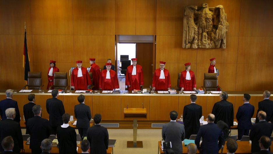 Germany's highest court assembles to hear the case on whether to ban the far-right NPD.
