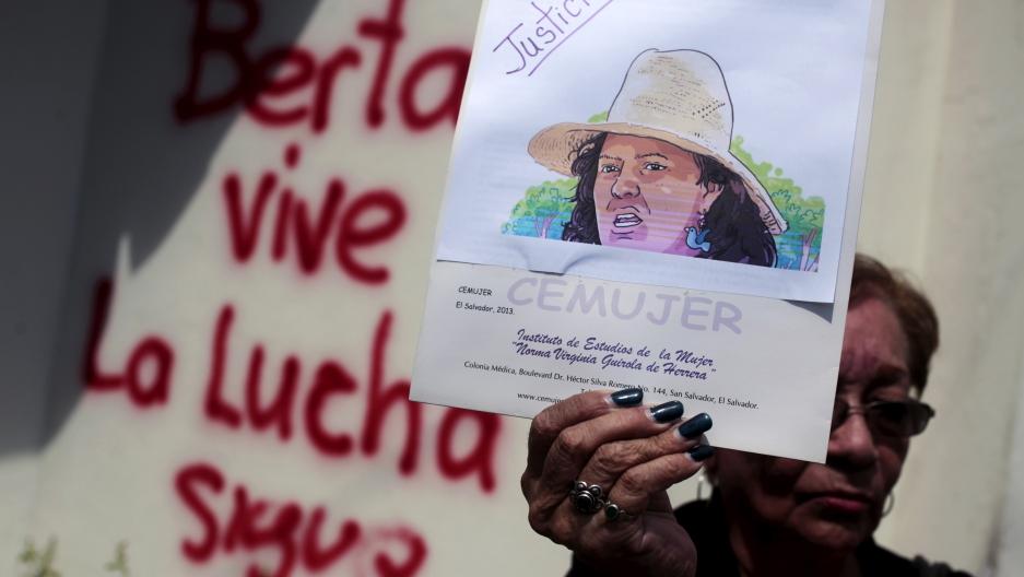 Honduran activist protest