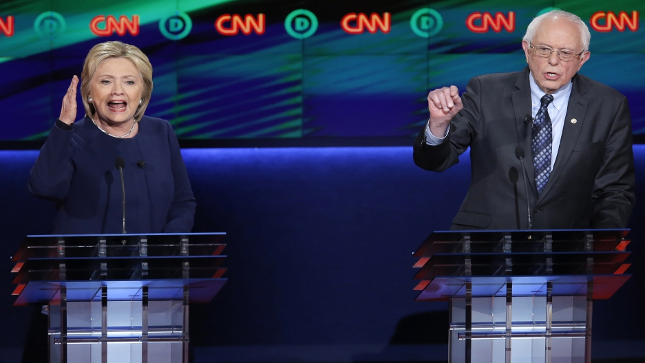 Clinton Sanders debate edit