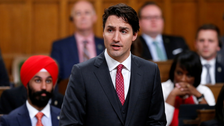 Canada's Prime Minister, Justin Trudeau, delivers a formal apology for the Komagata Maru incident in the House of Commons on Parliament Hill in Ottawa, Canada, May 18th 2016.