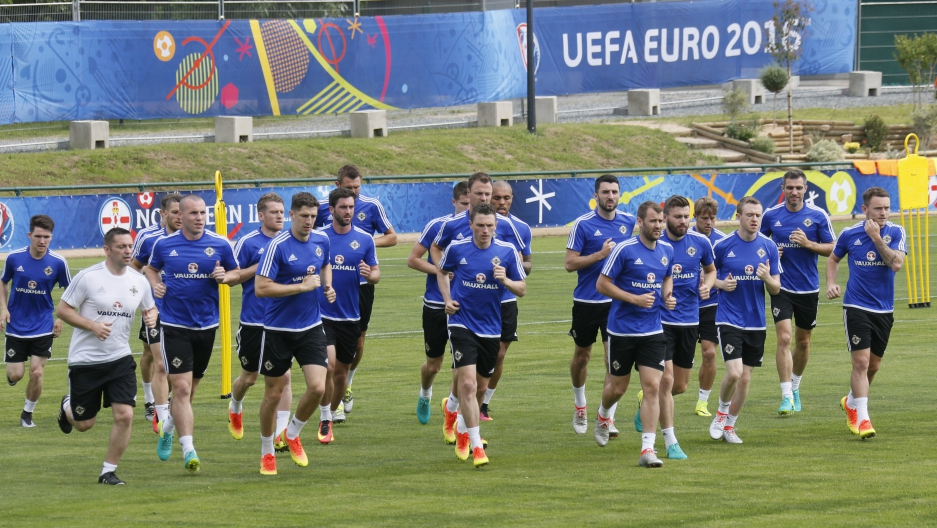 Football Soccer - Euro 2016 - Northern Ireland Training