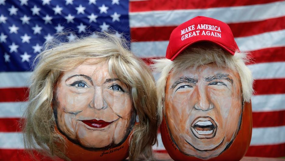 Clinton Trump caricatures