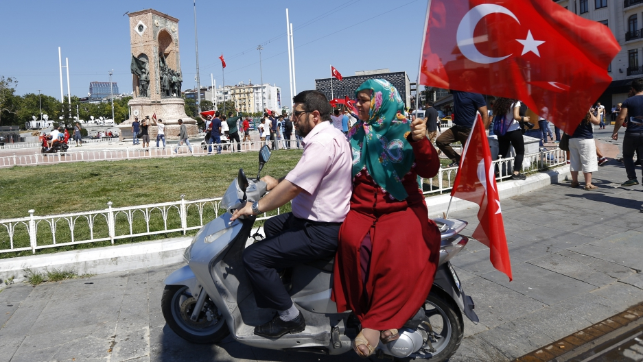 Turkish woman at protest