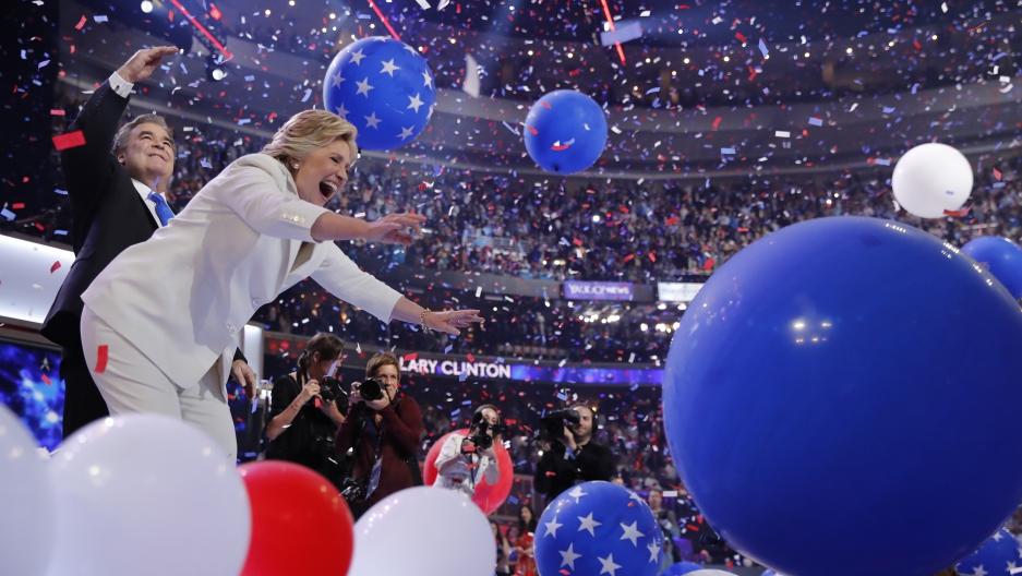 Hilary Clinton accepts the Democratic nomination