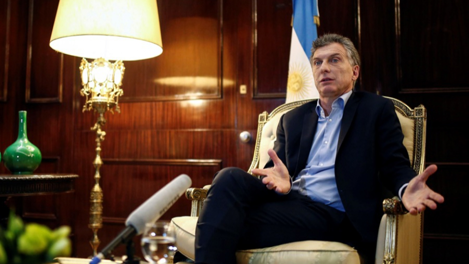 Argentine President Mauricio Macri in an interview in Buenos Aires, Argentina, on Aug. 8.