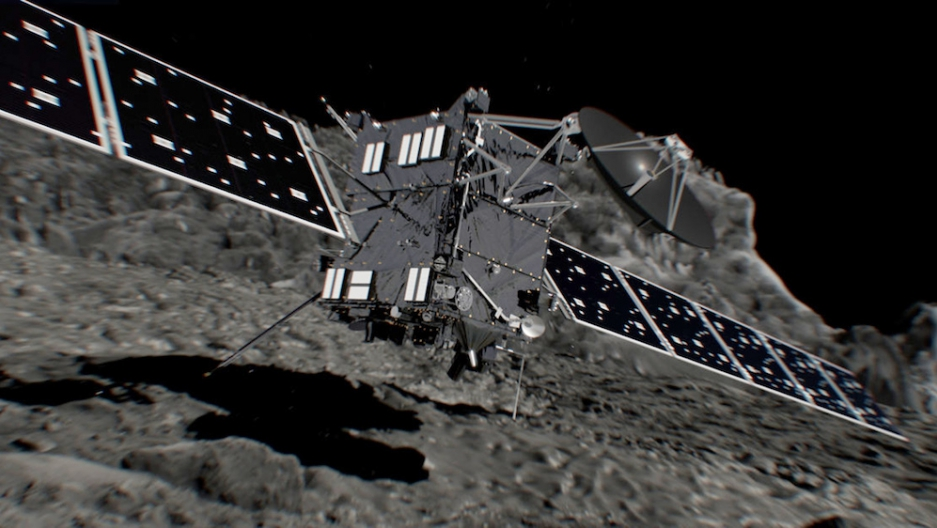 An artist's impression of the Rosetta spacecraft shortly before hitting Comet 67P/Churyumov-Gerasimenko on Sept. 30.