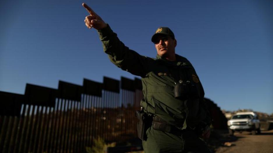 A U.S. border agent patrols the U.S. border with Mexico in Nogales, Arizona, U.S., January 31, 2017.