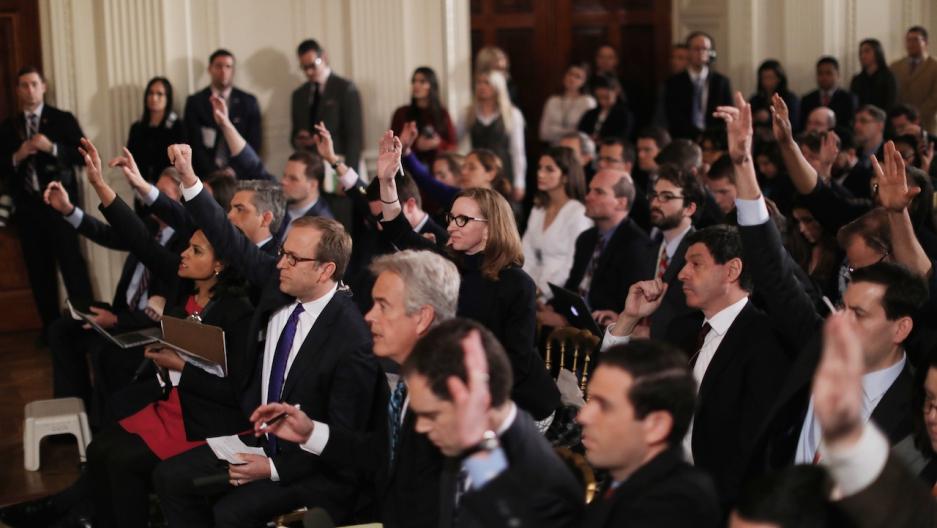 Trump solo press conference