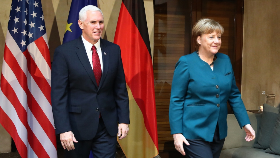 Merkel Pence Munich