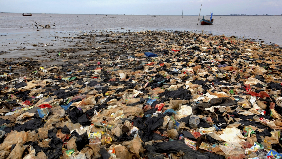 Trash Island Indonesia