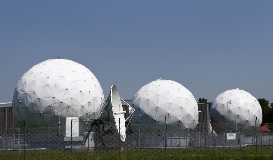 A view of sensor arrays at a former NSA monitoring base in Bad Aibling in Bavaria, Germany.