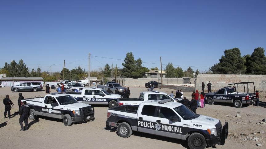 Crime scene in Ciudad Juarez