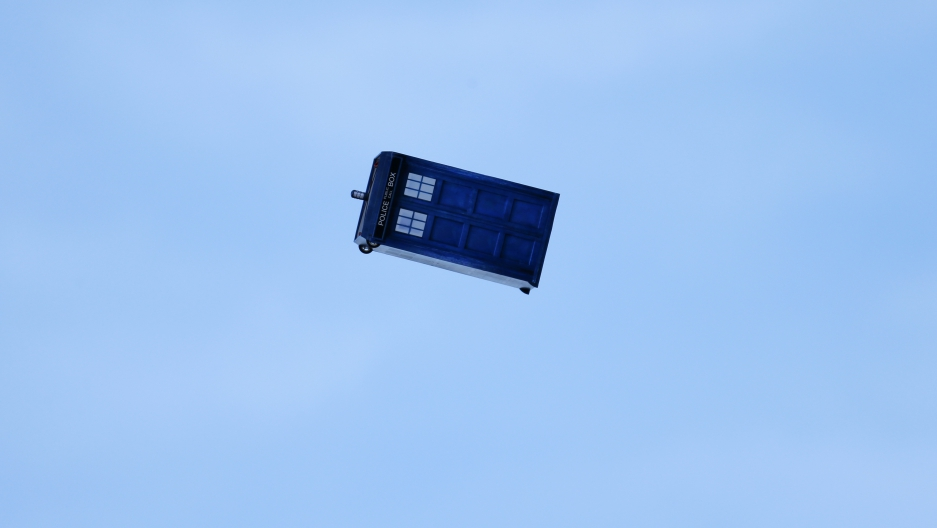 "A flying ""Tardis"" remote control air craft is test flown in San Diego, California November 18, 2013."