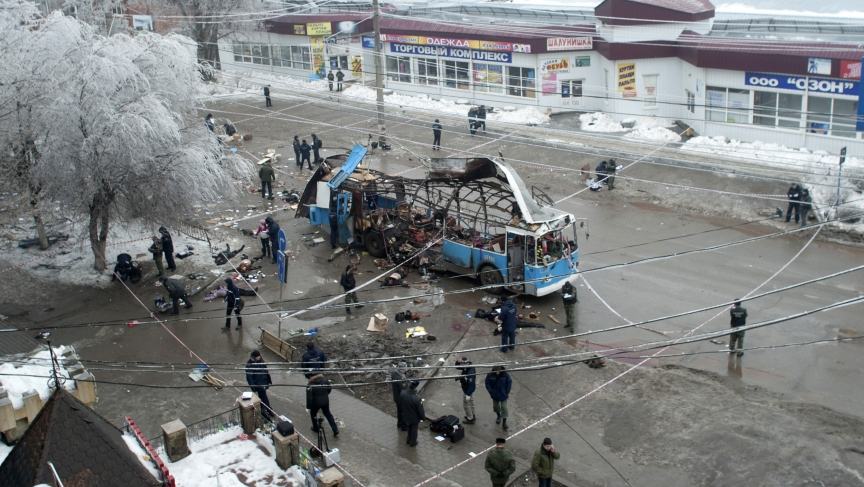 A suicide bomb blast ripped a trolleybus apart in Volgograd on Monday, in the second deadly attack in the southern city in two days.