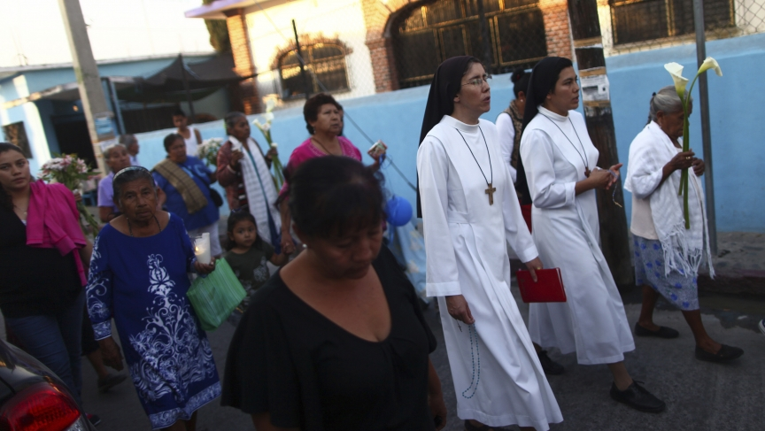 One of several protests and vigils in Mexico against the execution of Edgar Tamayo.
