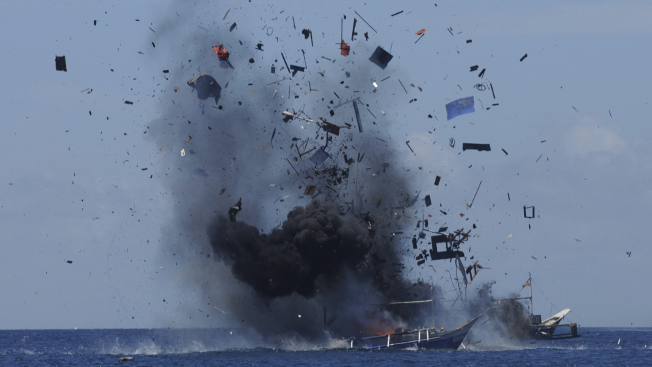 Indonesia exploding boats