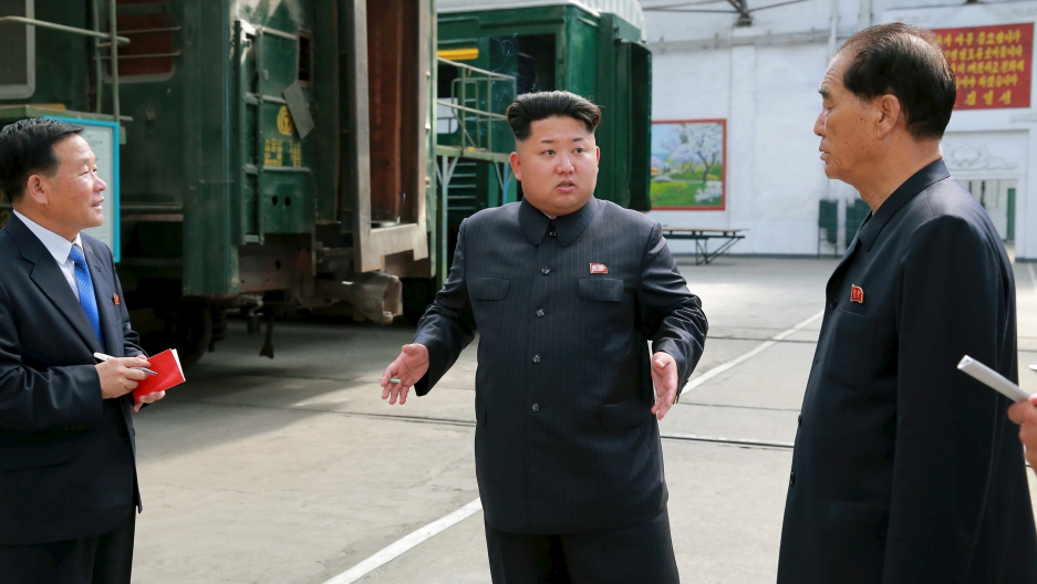 The government of North Korean leader Kim Jong-Un says it is not interested in talks with the US aimed at freezing or giving up its nuclear program. This is an undated photo released by North Korea's Korean Central News Agency on July 20, 2015.