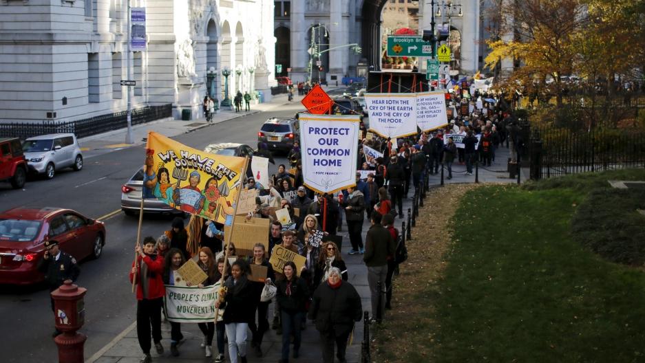 climate demonstrators