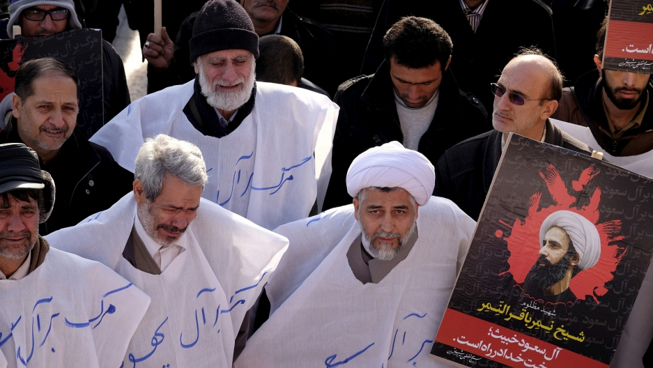 There have been demonstrations across the Islamic world at the execution in Saudi Arabia of Shi'ite cleric, Nimr al-Nimr. This protest is in Tehran.