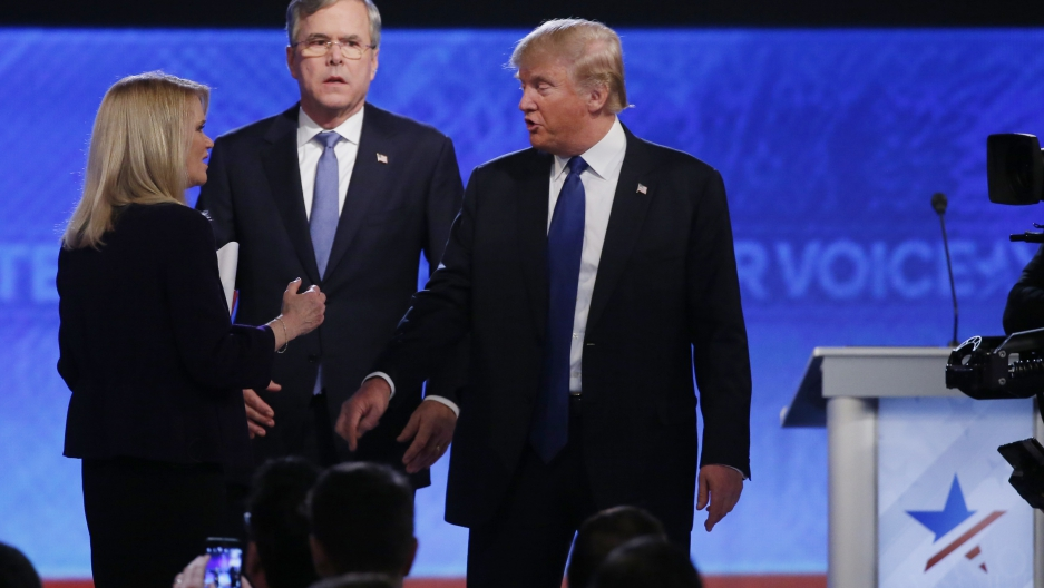 Bush, Trump square off in GOP debate