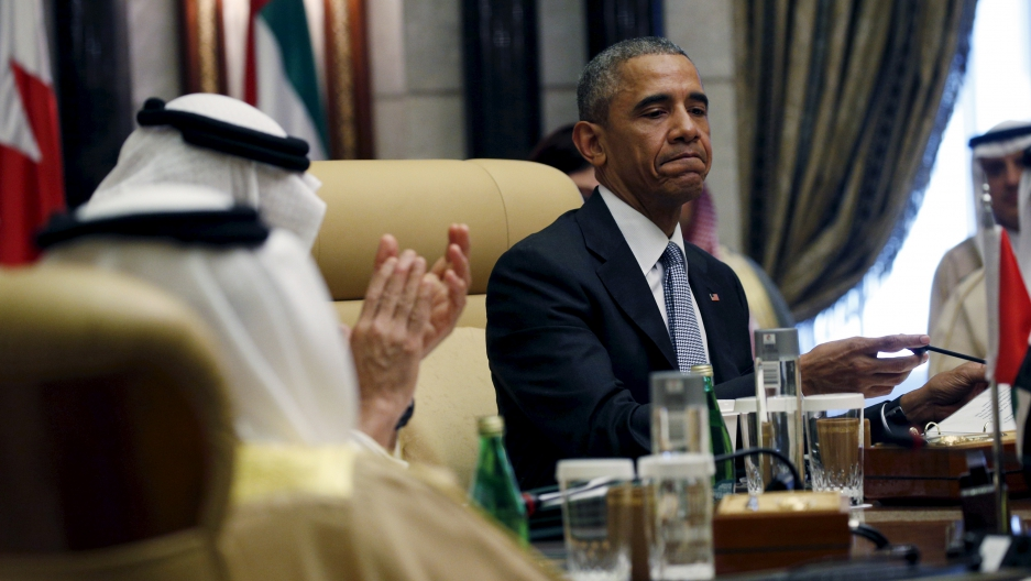 President Barack Obama at a summit of the Gulf Cooperation Council in Riyadh, Saudi Arabia.