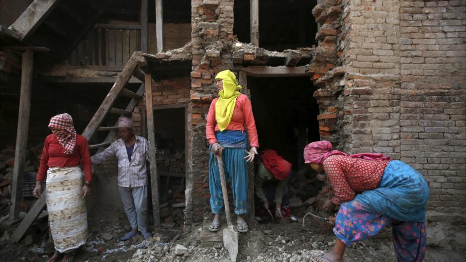 Rebuilding efforts in Bhaktapur, Nepal