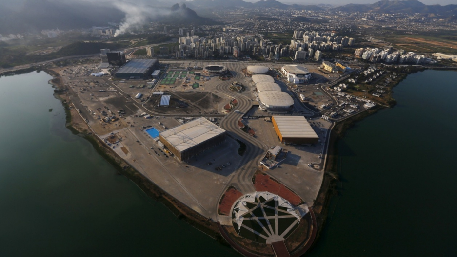 The 2016 Rio Olympic park photographed on April 25.