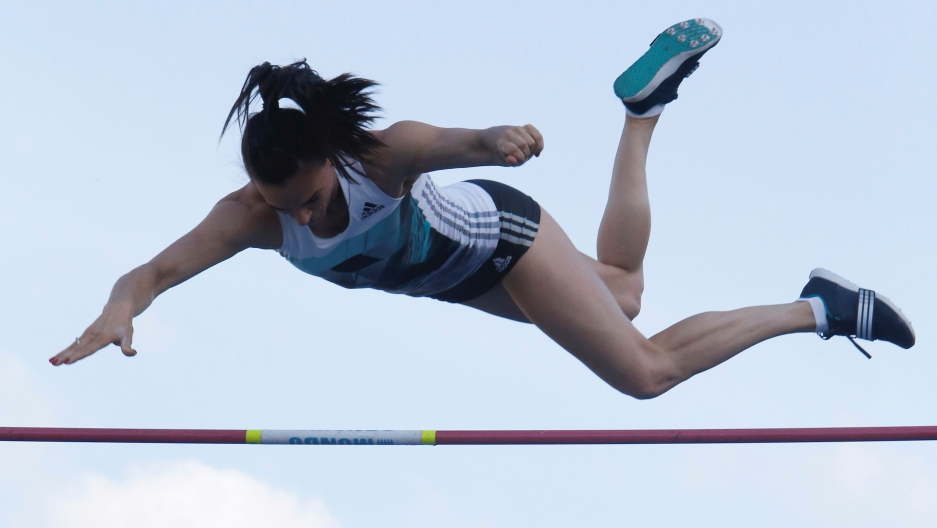 Star Russian pole vaulter Yelena Isinbayeva has complained about the International Association of Athletics Federations blocking Russian athletes from competing.