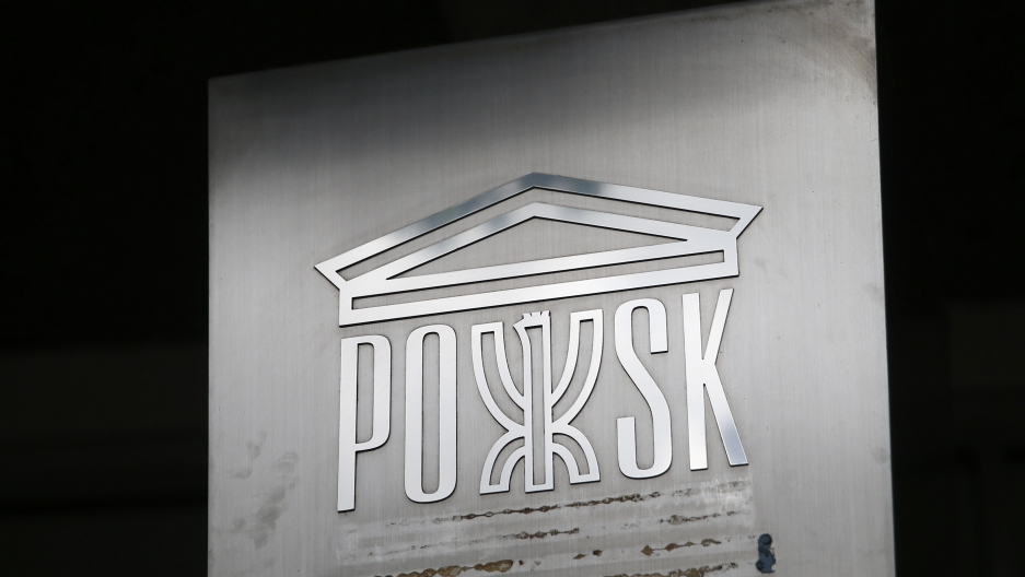 A sign is seen at the Polish Social and Cultural Association after graffiti was painted on the side of the building calling on Poles to leave the United Kingdom, in Hammersmith, London, Britain June 27, 2016.
