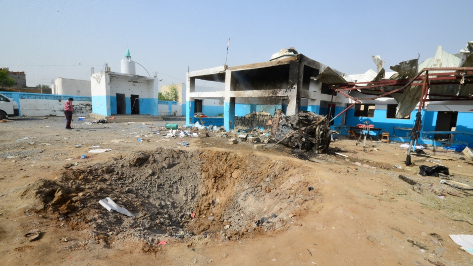 Crater at MSF Hospital Yemen