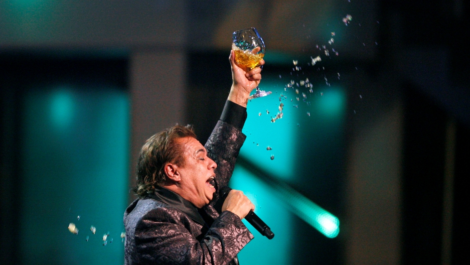 Mexican singer Juan Gabriel performs at the 10th annual Latin Grammy awards in Las Vegas, Nevada November 5, 2009.